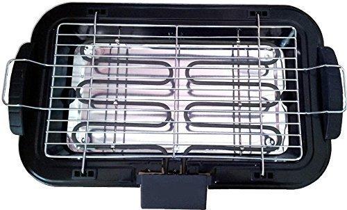 Barbecue elettrico larel da tavolo 2200 w bistecchiera portatile griglia grill piastra