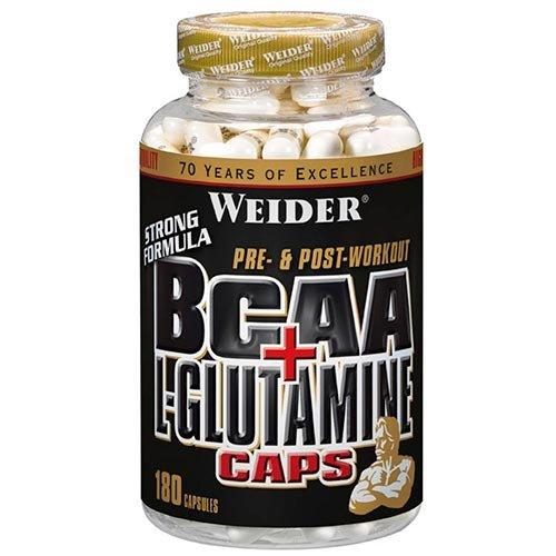 #Weider BCAA + Glutamin, 1er Pack (1 x 180 Kapseln)#