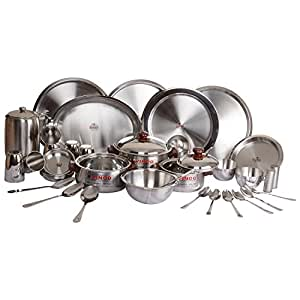 Vinod Trendy Steel Dinner Set, 61 Piece