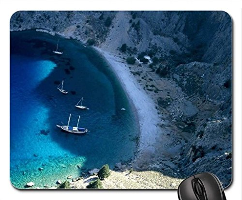 (der Strand Thema Gaming Mouse Pad, die Yacht in Einem abgelegenen Strand Mousepad, Mousepads.)