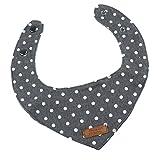 perfk Hundehalsband Hundehalstuch Hunde Katze Welpe Halstuch aus 100% Baumwolle - Grau, M