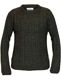 Mens Crosshatch marque Cable Knit Abbeystead cavalier haut manches longues pull décontracté