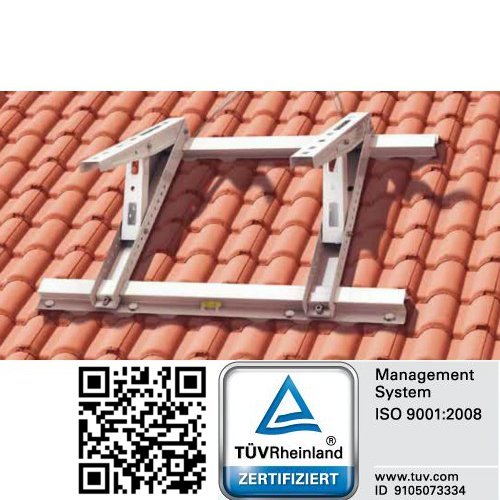 Dachkonsole für Klimaanlagen Inverter Universal Halter Schrägdächer 9° bis 45° -
