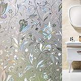 TT&CC 3D Bunte durchscheinende Hitze ablehnung Vinyl privatsphäre Kein kleber Fensterfolie dekofolie Sichtschutzfolie Dekorative Badezimmer Home-A 120x200cm(47x79inch)