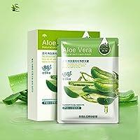 Oshide 10Pcs Facial Sheet Mask Hydrating Aloe Shrinking Pores Skin Care Oil Control Mask Sheet