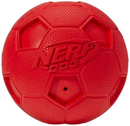 Nerf Dog Squeak Soccer Ball: Ø 10,2 cm, Farblich sortiert