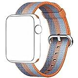 pour Apple Watch Series 1/2/3 42mm, Bracelet Nylon Tresse Band Remplacment - 240mm (Orange)
