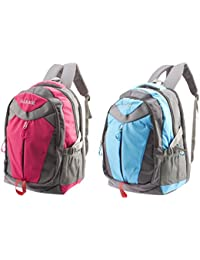 GLEAM Polyester School Bag (Pink and Sky Blue) - Set of 2 Bags 0499585e2d072