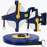 Rollbandmaß 100m ✔ Größenauswahl / Modellauwahl ✔ Glasfaserverstärkter ✔ Öse - Maßband Bandmaß Kapselmaßband Messband Maß Messen Rollmeter