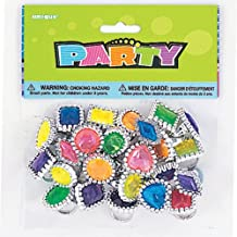 Partygram - 24 anillos con Gemas (86945PG)