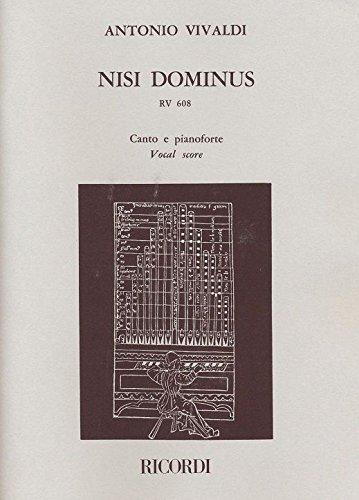 Preisvergleich Produktbild Nisi Dominus Rv 608. Klavierauszug