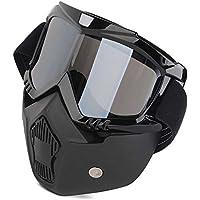Mototrance Storm Trooper Detachable Goggles Nose Face Mask (Black)