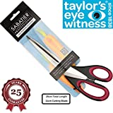 from Taylors Eye Witness Heavy Duty All Purpose Scissor - Sabatier Professional 25cm/10. Soft Grip, Dishwasher Safe, Multifunctional Utility General Use Long Straight Edge Snips/Shears. High Quality By Taylors Eye Witness Model SABPRSC03