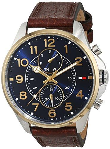 Tommy Männer Uhren Hilfiger Für (Tommy Hilfiger Herren-Armbanduhr Casual Sport Analog Quarz Leder 1791275)