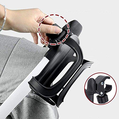 Cup Holder-2Pack Fahrrad Flasche Becherhalter 360Grad Rotation Trinken Flasche Tasse Halter für Fahrrad Rollstuhl Baby Kinderwagen Bike Becherhalter -