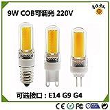 NIKU-surligneur G9 G4 E14 Ledcob 220V 9W Dimmable Led Bulle Insérer cristal transparent en silicone léger Maïs Shell Lumière Ampoules LED Light Source,G4-Lumière chaude