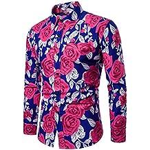 Camisa Hombre,ZARLLE Camisa De Manga Larga para Hombre Moda Camisa del Negocio Estilo Business