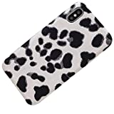 LAPOPNUT Coque iPhone 7 Plus iPhone 8 Plus Fourrure Léopard, Coque iPhone 7 Plus...