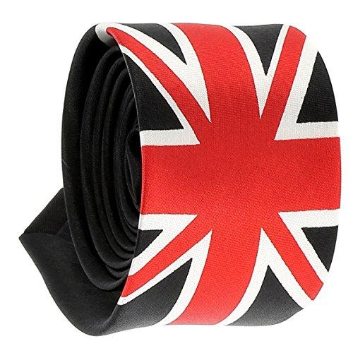 Schmale Krawatte Union Jack Flagge