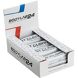 Bodylab24 Eat Clean Protein Riegel, Geschmack: Erdnuss-Karamell, hochwertiger Fitness Proteinriegel, Low Carb, mit wertvollen Ballaststoffen, 12 x 65g Box