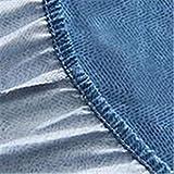 CHLCH Coprimaterasso Impermeabile Traspirante, Anallergico, antiacaro,Foglia di Acero Blu180 * 200 * 23 cm