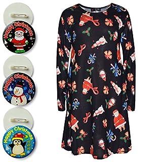 A2Z 4 Kids® Kids Girls Christmas Dress - Xmas-Dress Jingle Bells Black 13