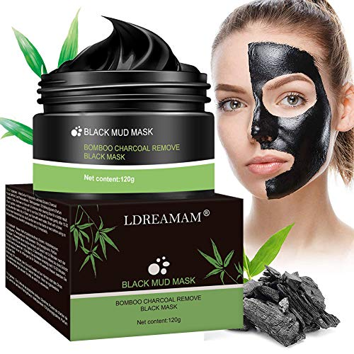 Peel off Mascarilla,Black Mask,Mascarilla Exfoliante Facial,Purifying Peel Off Máscara Remove BlackHead y Acné,Deep Cleansing Bambú Máscara Negra 120g