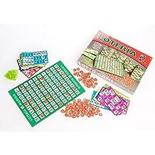 Marigo Loteria 48 - Juego de mesa, cartónes fichas de color madera