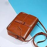 Women Shoulder Bag, Rcool Women Girl Vintage Purse Bag Leather Cross Body Bags Shoulder Messenger Bag Satchels (Brown)