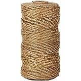 Musuntas 300 pies cable de yute Tenn corrugado cable de yute marrón natural para plantas de jardín Fotografías manualidades para bricolaje Artesanía Jardinería