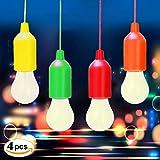 LED Lampada, hongdao Handy Lux Colors 【 4 Pezzi 】 LED Lamp per Pesca, Campeggio, Tenda, Festa,da Esterno o da Interno