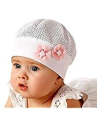 Baby Mädchen Winter Set Mütze mit Halstuch Taufe Marika Natur Bommel Neu