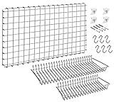 METALTEX 368266141 Deko-System Set 66 x 41 cm zur Aufhängung von Küchenhelfern / Wandgitter