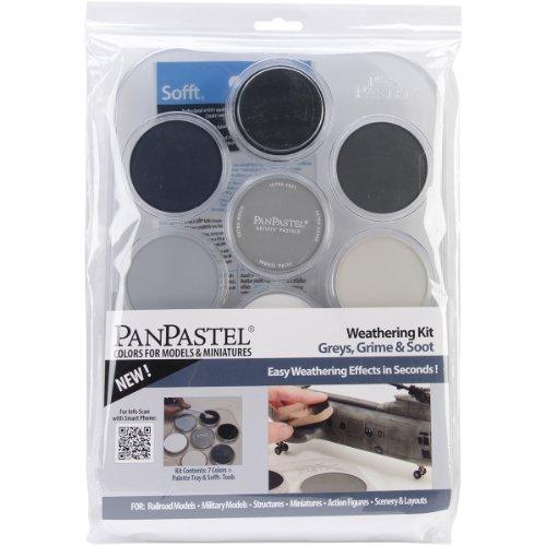 Pan Pastel Sofft-tools (Colorfin Pan Ultra Soft Artist Pastel-Set, 9 ml, 7 kg, Graugrau, Ruß und Ruß)