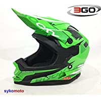 3GO XK188 ROCKY CUB NIÑOS MOTOCROSS MOTOCICLETA QUAD ATV DIRT BMX CASCO VERDE (L (