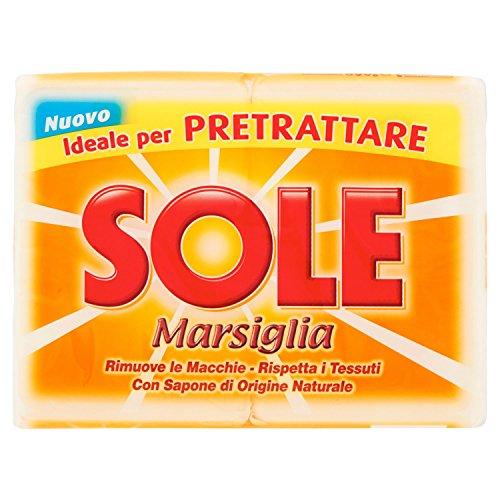 Sole Marsiglia Bucato Bianco - 2 Pezzi da 250 gr