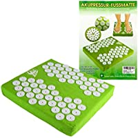 Akupressur Fussmatte, 32x35x5 cm, 62 Stimulationskreisel mit je 33 Spitzen Yoga Shanti preisvergleich bei billige-tabletten.eu