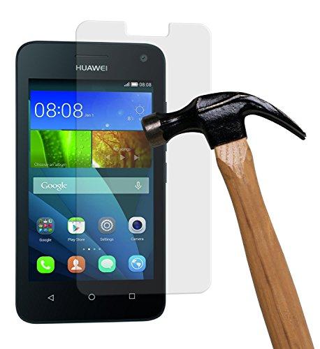 yayago Displayschutzglas 0,26 mm Displayschutzfolie für Huawei Y3 Glasfolie Hartglas 9H (bewusst Kleiner als Das Display, da Dieses gewölbt ist)