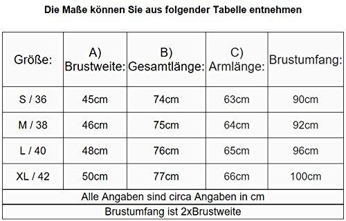 Damen Mantel Kunstledermantel Bikerjacke Übergangsjacke Schwarz D-303 S-XL Schwarz