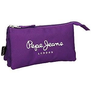 Pepe Jeans Plain Color Neceser de Viaje, 1.32 litros, Color Violeta
