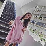 MDRW-Sciarpa Invernale Signore L'Inverno Sciarpa Scialle Collare Con Addensato In Autunno E Inverno Caldo Inverno Pearl Sciarpa Sciarpa Studenti Rosa