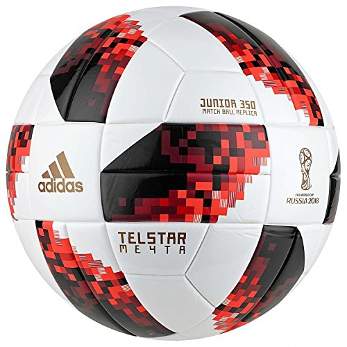 Adidas world cup knock out j350 - pallone da calcio da uomo, uomo, cw4694, white/solar red/black, 5