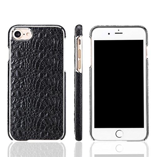 Xshuai Luxus Leder Slim Skin Schutzmaßnahmen Anti-Kratzer shockproof Hard zurück Fall Deckung für Iphone 8 4,7 Zoll (Schwarz / Grün) (Schwarz) - Hard Skin Iphone Fall