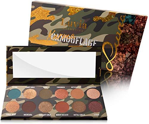 Luvia Lidschatten Palette - Karmaflage Make-Up - Inkl. 12 provokanten Farben - Limitierte...