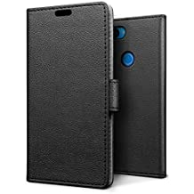 SLEO Funda Xiaomi Mi 8 Lite Carcasa Libro de Cuero Ultra Delgado Billetera Cartera [Ranuras