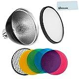 Godox AD-S2 Reflector de luz estándar con Suave fotografía difusor y AD-S11 Filtro de Color Paquete de Gel, para Godox AD200 AD360 AD360II Flashes (AD-S2)