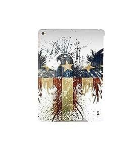 Fuson Designer Back Case Cover for Apple iPad Air 2 :: Apple iPad Air 2 Wi-Fi + Cellular (3G/LTE) :: Apple iPad Air 2 Wi-Fi (Wi-Fi, w/o GPS) (eagle image designed painting stars)