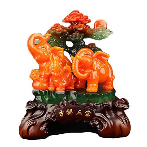 auklm famiglia fortunata di tre sculture, ricchezza di artigianato feng shui, soggiorno camera da letto portico hotel ufficio decorazioni per la casa regali aziendali, 16,5 * 10 * 19 cm
