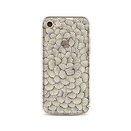 Coque iPhone 7 Plus Housse étui-Case Transparent Liquid Crystal en TPU Silicone Clair,Protection Ultra Mince Premium,Coque Prime pour iPhone 7 Plus-ligne-style 16 19