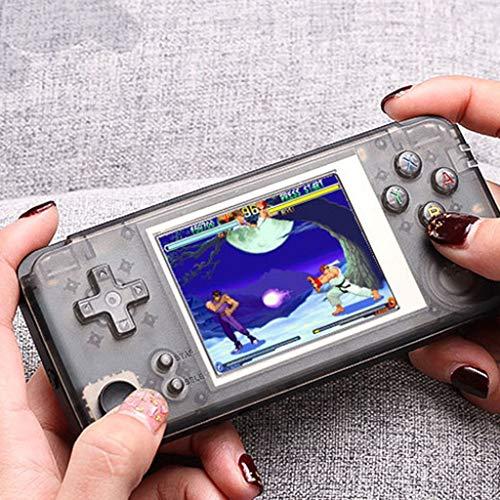 Dkings Retro-Spielekonsole, Handheld-Spielekonsole 3-Zoll-3000-Classic-Game-Player, Unterstützung NEOGEO / GBA / GBC / GB / GG / NES / SEGA / SFC / SMS-Spiel-Format kann TV-Serien verbinden(Black) -